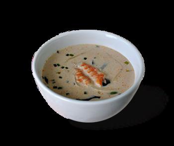 Zupa kokosowa z krewetką